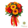 Regalo Bouquet di gerbere rosse e arancio da consegnare a domicilio