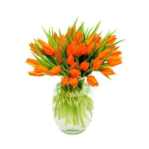 Bouquet di tulipani arancioni