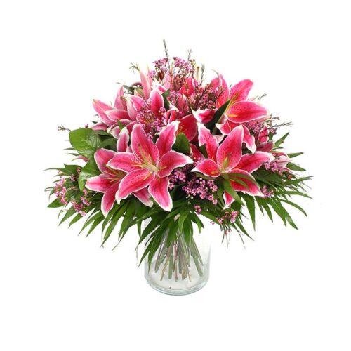 Bouquet di lilium rosa