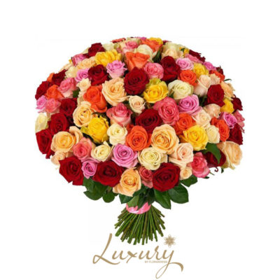 Bouquet rose colorate (Luxury)