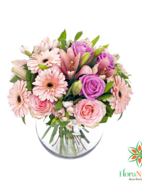Bouquet di rose e gerbere
