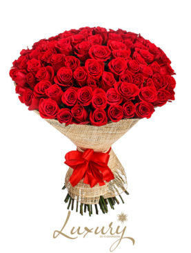 Bouquet 100 Rose rosse (Luxury)