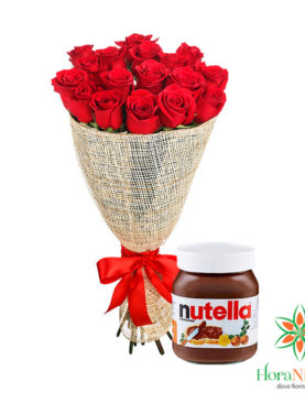 Bouquet di rose con Nutella