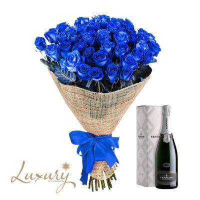 50 Rose blu